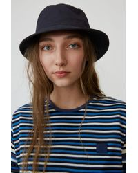 Acne Buk Face Co Tw Flag Navy Blue Bucket Hat