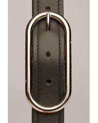 Fine ceinture en cuir Acne en coloris Black
