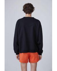 Acne | Black Fint Fleece-back Cotton-jersey Sweatshirt for Men | Lyst