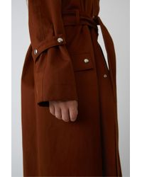 Acne Fn-wn-outw000010 Ginger Orange Classic Trench Coat