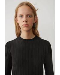 Acne Body Con Pullover black