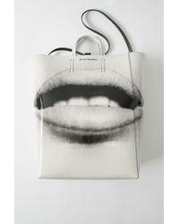 Acne Baker Ap Black/white Tote Bag