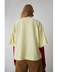 Acne Cropped T-shirt pale Yellow