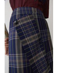Acne Blue Wrap Skirt navy / Black Mix