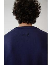 Acne Regular Fit Sweatshirt indigo Blue for men