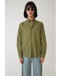 Acne Classic Fit Shirt hunter Green