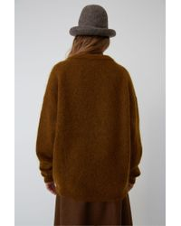 Acne Oversized Sweater cognac Brown