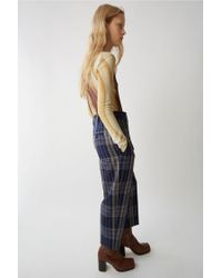 Acne Blue Tailored Trousers navy / Black Mix