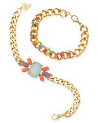 Guess | Multicolor Gold-tone Multi-stone Bracelet Set | Lyst