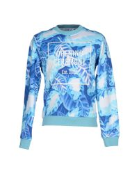 Opening Ceremony - Blue Painted Leaf Cotton Sweatshirt for Men - Lyst