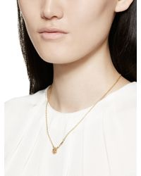 kate spade new york - Metallic Tell All Bride Emoji Necklace - Lyst