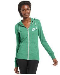 Nike - Green Long-Sleeve Gym Vintage Hoodie - Lyst