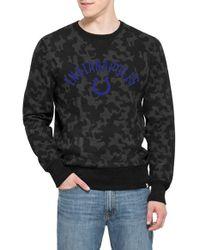 33d629200 47 Brand. Men s Black  indianapolis Colts - Stealth  Camo Crewneck  Sweatshirt