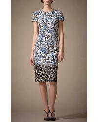 Carolina Herrera   Black Floral Printed Sheath Dress   Lyst