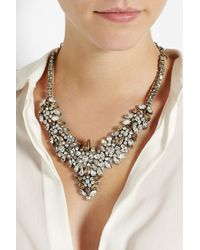 Valentino | Natural Glam Flowers Silver-Tone Crystal Necklace | Lyst