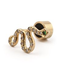 Ileana Makri | Metallic Diamond Snake Earrings | Lyst