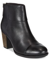 Clarks | Black Collection Enfield Tess Booties | Lyst