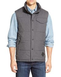 The North Face Gray 'patrick's Point' Quilted Vest for men