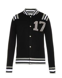 Givenchy Black 17 Varsity Wool Cardigan for men
