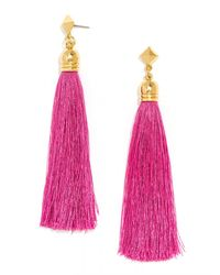 BaubleBar | Purple Verona Tassel Drops | Lyst