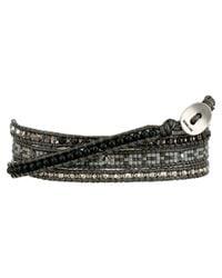 Chan Luu - Multicolor 32' Matte Hematine Seed Bead Mix Wrap Bracelet - Lyst