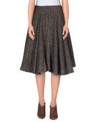 Erika Cavallini Semi Couture - Gray Knee Length Skirt - Lyst