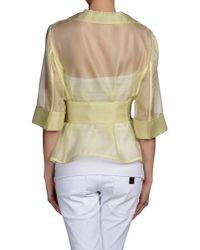 Armani - Yellow Blazer - Lyst