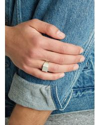 All_blues - Metallic Brushed Sterling Silver Ring for Men - Lyst
