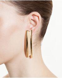 Loewe Metallic Gold Plated Single Earring