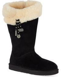UGG Plumdale Charm Sheepskin Winter Boots Black