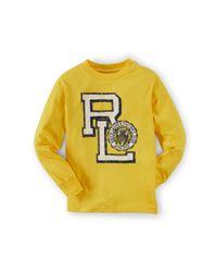 Ralph Lauren - Metallic Cotton Jersey Long-sleeved Tee - Lyst