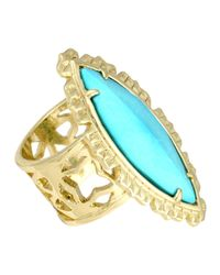 Kendra Scott - Blue Maritza Turquoise Marquise Ring 7 - Lyst