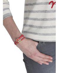 McQ - Red Razor Leather Wrap Bracelet - Lyst