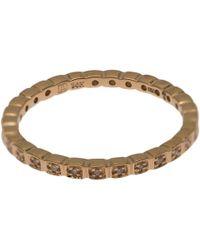 Anna Sheffield Metallic Gold Diamond Tiny Wheat Eternity Ring