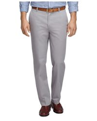 Brooks Brothers - Gray Clark Fit Vintage Washed Chinos for Men - Lyst