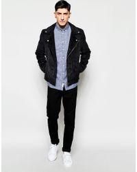Minimum - Multicolor Shirt In Blue Textured Cotton In Regular Fit for Men - Lyst