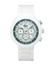 Lacoste - Green 'borneo' Chronograph Bracelet Watch for Men - Lyst