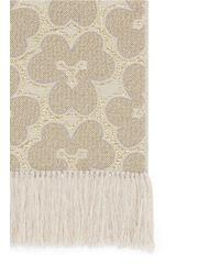 Dries Van Noten Natural Floral Embroidery Wool-silk Scarf