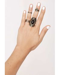 Nasty Gal | Metallic Midnight Wanderer Ring Set - Gold | Lyst