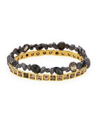 Alexis Bittar | Metallic Stacked-bangle Hinge Bracelet | Lyst