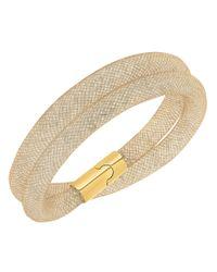 Swarovski | Metallic Stardust Double Wrap Bracelet | Lyst