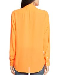Polo Ralph Lauren | Orange Modern Crepe Blouse | Lyst
