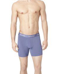 Calvin Klein - Purple Lynx Blue Boxer Briefs for Men - Lyst