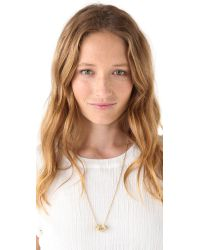 Marc By Marc Jacobs - Metallic Sweetie Rings Necklace - Cream - Lyst