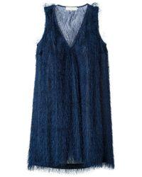 L'Autre Chose   Black V-neck Sleeveless Dress   Lyst