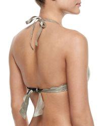 Pilyq | Metallic Seamless Scalloped Reversible Swim Top | Lyst