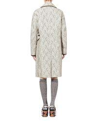 Marni - Coat In Rainproof Double Cotton And Silk Gray Garden Print - Lyst