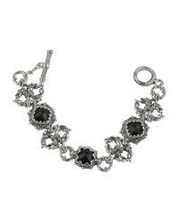 Konstantino - Multicolor Silver & Onyx Double-griffin Link Bracelet - Lyst