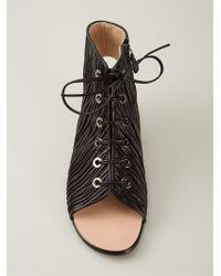 Viktor & Rolf Black Lace-Up Sandals