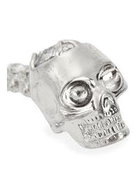 Alexander McQueen | Metallic Silver Tone Twin Skeleton Bracelet | Lyst